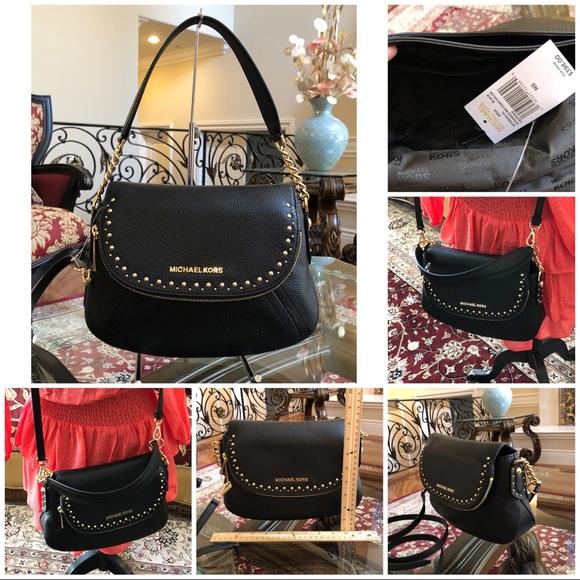 7ccb1c4e22d5 NWT Michael Kors studded Aria MD Conv Handbag